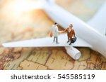 miniature businesses people due ...   Shutterstock . vector #545585119