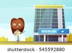cute female doctor slim... | Shutterstock .eps vector #545592880