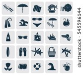 set of simple beach rest and... | Shutterstock .eps vector #545596144