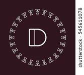 d letter logo design | Shutterstock .eps vector #545611078
