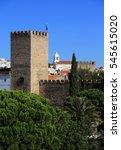 Small photo of Tower of the medieval Castle of Alter do Chao, in the Portalegre District. Alto Alentejo, Portugal.