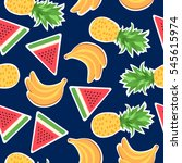 seamless pattern with fashion... | Shutterstock . vector #545615974