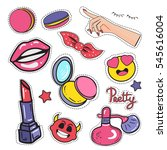 stickers  patches and... | Shutterstock . vector #545616004