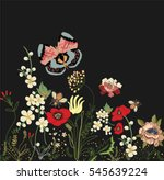 embroidery patch vintage... | Shutterstock .eps vector #545639224
