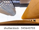 looking up highrise building... | Shutterstock . vector #545643703