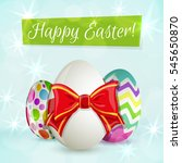 colorful easter greeting card...   Shutterstock .eps vector #545650870