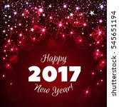 happy new year 2017 greeting... | Shutterstock .eps vector #545651194