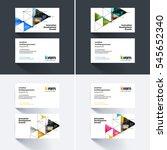 vector business card template... | Shutterstock .eps vector #545652340