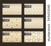 business card set. golden foil...   Shutterstock .eps vector #545653540