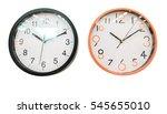 clock on white background. | Shutterstock . vector #545655010