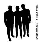 man body silhouette vector | Shutterstock .eps vector #545655988