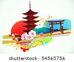 vector illustration of abstract ... | Shutterstock .eps vector #54565756