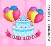 happy birthday card | Shutterstock .eps vector #545657620