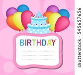 happy birthday card | Shutterstock .eps vector #545657656