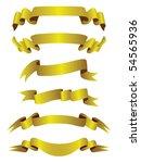 gold banners set | Shutterstock . vector #54565936