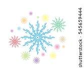 fireworks. vector illustration. ...   Shutterstock .eps vector #545659444