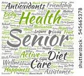 concept conceptual old senior... | Shutterstock . vector #545665378