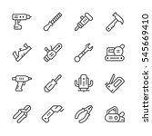 set line icons of electric and... | Shutterstock .eps vector #545669410