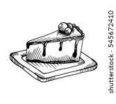 hand drawn sketch food  ... | Shutterstock . vector #545672410