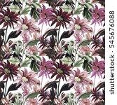 seamless  pattern bouquet of... | Shutterstock . vector #545676088