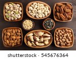 different kinds of nuts in...   Shutterstock . vector #545676364