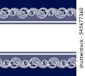 white lace seamless pattern | Shutterstock .eps vector #545677360