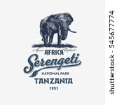 African Elephant  Serengeti...