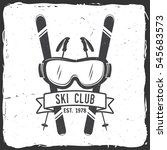ski club concept. vector ski... | Shutterstock .eps vector #545683573