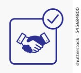 icon handshake pictogram for... | Shutterstock .eps vector #545684800