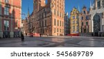 dlugi targ street  main city ... | Shutterstock . vector #545689789