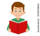 the boy looks straight ahead... | Shutterstock .eps vector #545692864