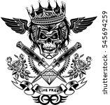 skull dagger knife    Shutterstock .eps vector #545694259