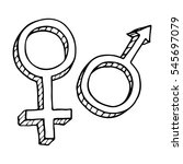 male and female sex symbol. | Shutterstock .eps vector #545697079