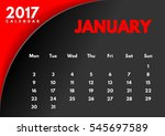 vector calendar for 2017 year.... | Shutterstock .eps vector #545697589