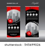 black roll up banner template... | Shutterstock .eps vector #545699026