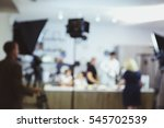 the process of recording a tv... | Shutterstock . vector #545702539