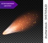a bright comet with large dust... | Shutterstock .eps vector #545705620