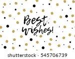 new year greeting card with... | Shutterstock .eps vector #545706739