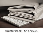 online news - stock photo