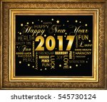 happy new year 2017 | Shutterstock . vector #545730124