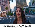 beautiful young hispanic girl... | Shutterstock . vector #545734828