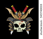ancient samurai helmet   Shutterstock .eps vector #545740033