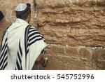 Jewish Man Praying At The...