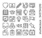 education vector icons 2 | Shutterstock .eps vector #545754190