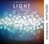 festive light background with... | Shutterstock .eps vector #545754283