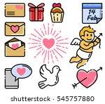 valentine day element set | Shutterstock .eps vector #545757880