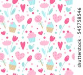 vector seamless pattern with... | Shutterstock .eps vector #545758546