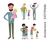 father kids family son and... | Shutterstock .eps vector #545759686