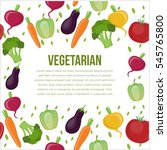 vegetarian poster  happy... | Shutterstock .eps vector #545765800