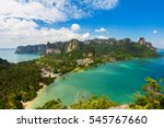 stunning view of railay bay... | Shutterstock . vector #545767660